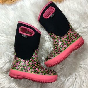 """BOGS Girls Size 3 Floral Print """"Sweet Pea"""""""